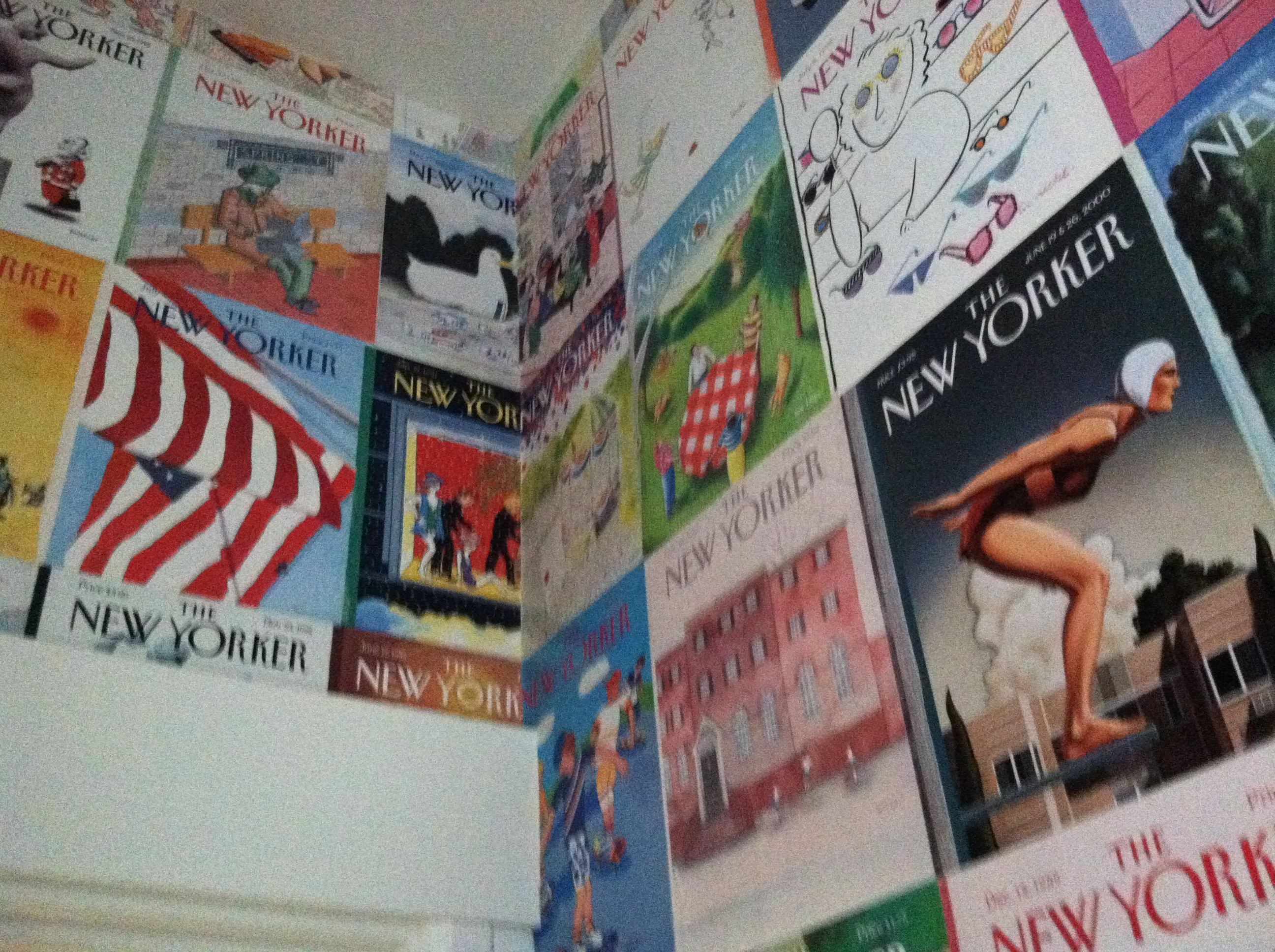 One idea for accumulated back issues -- wallpaper!
