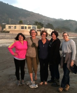 Writers' group at Stinson Beach, October 2014